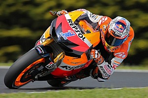 MotoGP Practice report Stoner sets scorching pace on the first day of action at Philip Island