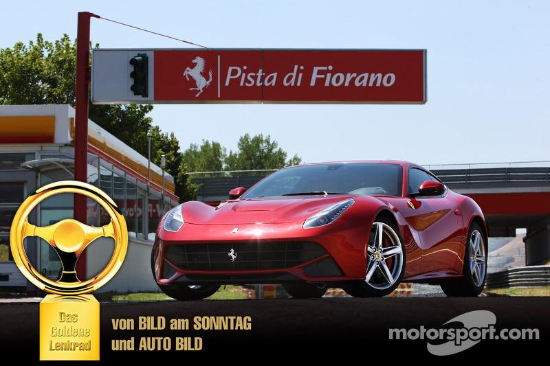 The Ferrari F12berlinetta wins the 2012 Auto Bild Goldenes Lenkrad Award