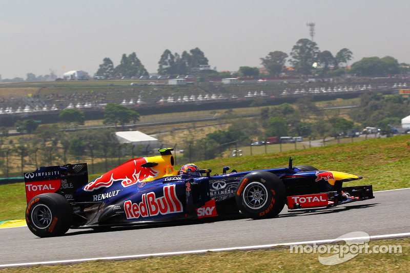Red Bull will start the Brazilian GP with both drivers on the second row of the grid