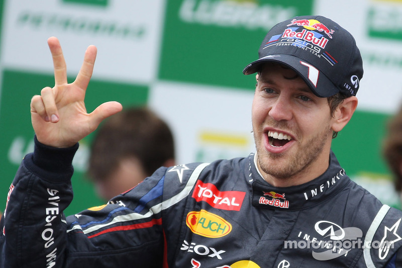 Vettel and Red Bull celebrate his third-consecutive World Championship