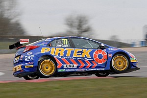 BTCC Qualifying report Pirtek's Jordan claims pole at snowy Brands for season opener