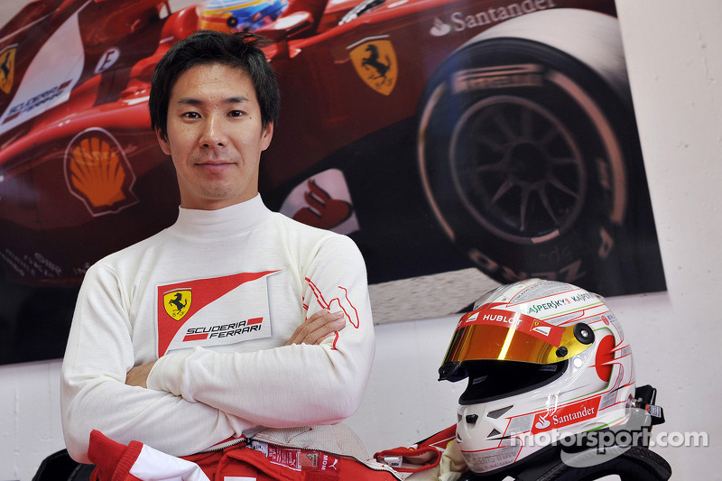 Kobayashi tests Ferrari F10