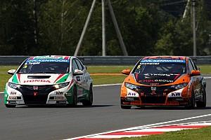 WTCC Qualifying report Top five grid slots for Honda Civics at Moscow Raceway