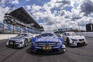 DTM Breaking news DTM drivers hand over donation cheques to Meissen, Prina and Herzberg