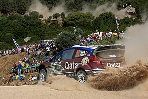 WRC Leg report Neuville holds podium position after day one in Sardinia