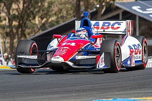 IndyCar Race report Foyt's Sato was collected twice at Sonoma