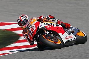MotoGP Practice report Bridgestone: Marquez takes control in opening day at Motorland