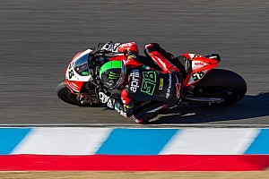 World Superbike Race report Laverty wins after an intense race-long battle at Laguna Seca