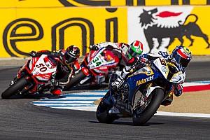 World Superbike Race report Podium finish for BMW Motorrad GoldBet SBK Team at Laguna Seca