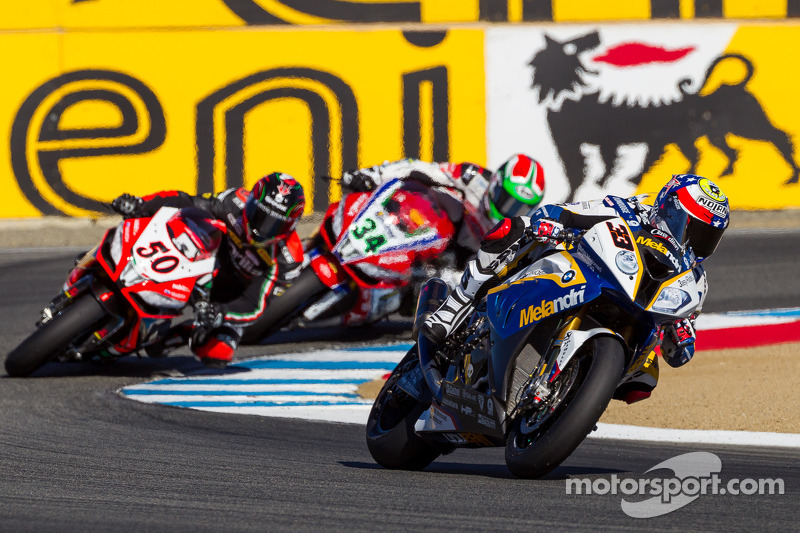 Podium finish for BMW Motorrad GoldBet SBK Team at Laguna Seca