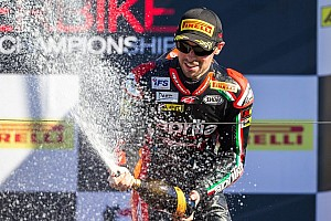 World Superbike Race report Laverty wins Race 1 as Sykes clinches the title