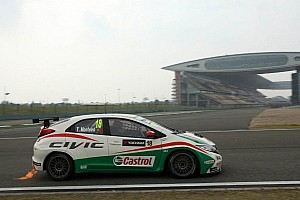 WTCC Race report Chevrolet and Honda share victories at Shanghai
