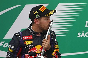 Formula 1 Breaking news Only Vettel 'sad' 2013 season finally over