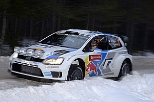 WRC Leg report Volkswagen holds first three positions after leg one of Rally Sweden