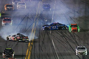 NASCAR Cup Race report 'Big One' strikes following lengthy rain delay; eliminates Danica Patrick, others