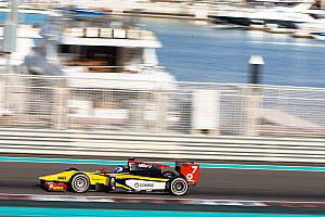 FIA F2 Testing report Jolyon Palmer goes fastest in pre-season testing in Abu Dhabi