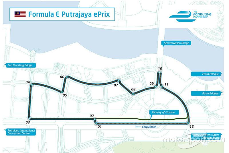 Formula E reveals circuit design for Putrajaya ePrix