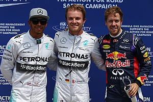 Formula 1 Qualifying report Rosberg bests teammate Hamilton for Canadian GP pole