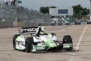 IndyCar Race report Bourdais carries a broken wing home in fifth