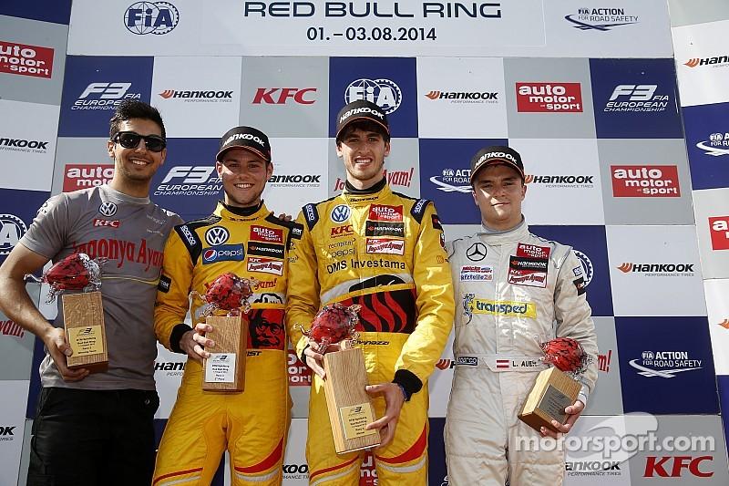 Antonio Giovinazzi celebrates maiden FIA Formula 3 European Championship race win