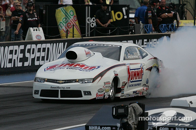 Pro Stock driver Greg Anderson hopes for home track advantage