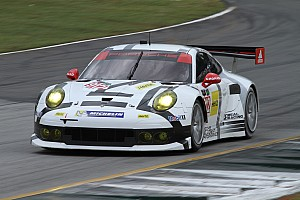 IMSA Race report No. 912 Porsche 911 RSR pulls even with No. 4 Corvette C7.R  after opening  at Petit Le Mans