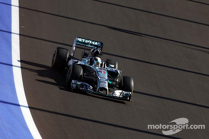 Russian GP practice 2 results: Hamilton snatches P1