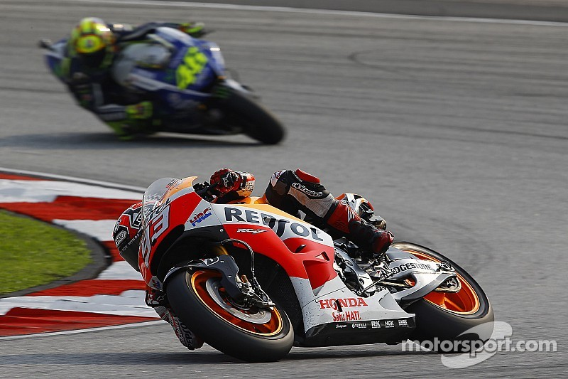 Bridgestone: Fast-starting Marquez tops both sessions in Friday practice at Valencia