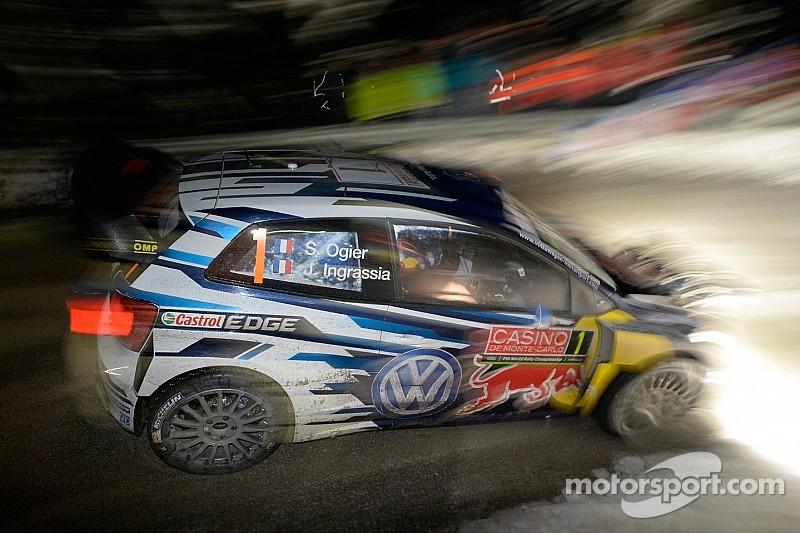 Ogier leads, Loeb breaks in Monte Carlo