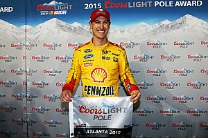 NASCAR Cup Qualifying report Joey Logano earns first career pole at Atlanta