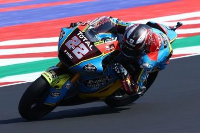 Moto2 Barcelona FT1: Sam Lowes am Vormittag vor Luca Marini