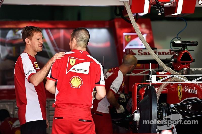 Vettel: el Ferrari actual es mejor que el Red Bull de 2014