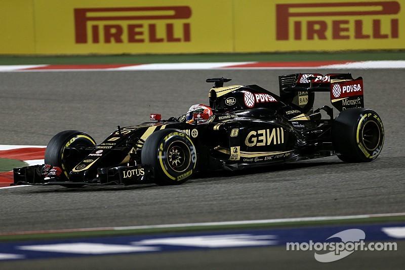 Grosjean, feliz con el Lotus E23