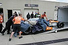 Andretti takes burned car back to race shop for rebuild - photos