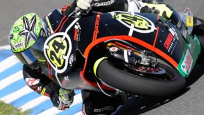 Moto2 2010, Jerez: miglior tempo di Corti nei test