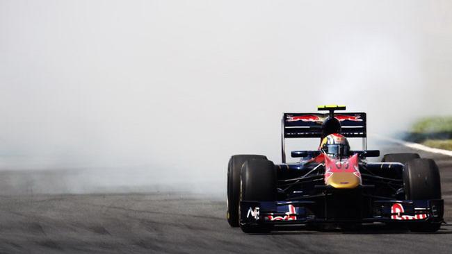 Alguersuari e la fumata della sua Toro Rosso