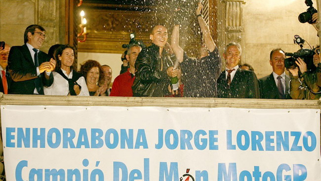 Maiorca rende omaggio a Jorge Lorenzo