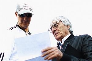 Formula 1 Ultime notizie Schumi salta la foto di gruppo e Bernie lo attacca!