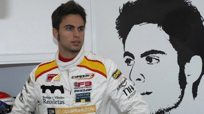 Adrian Campos Jr. con la Campos Racing in Auto Gp