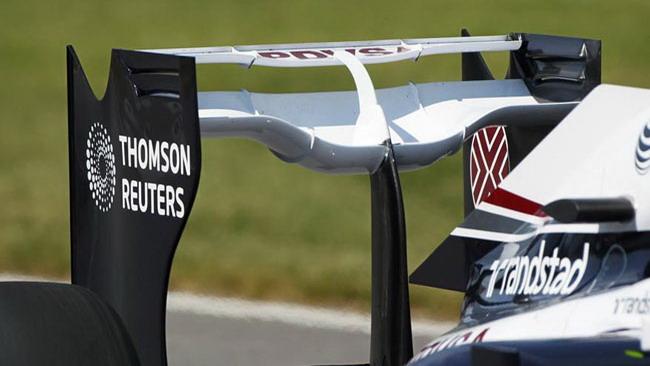 La Williams con un'ala posteriore molto scarica