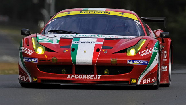 La Ferrari 458 subito seconda all'esordio a Le Mans