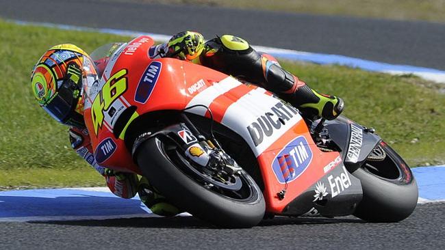 Ennesima giornata no per Rossi e la Ducati