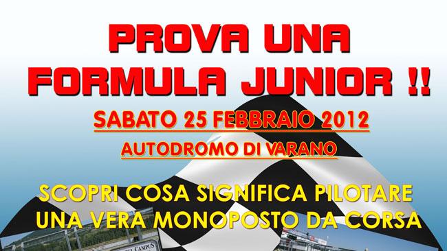Test promozionale a Varano per la Formula Junior