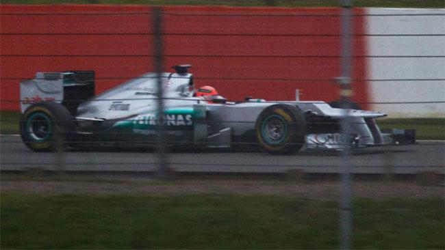 Spiata a Silverstone la Mercedes W03