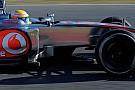 La McLaren con un'ala anteriore tutta nuova