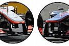 Un accenno di scalino sul muso della McLaren!