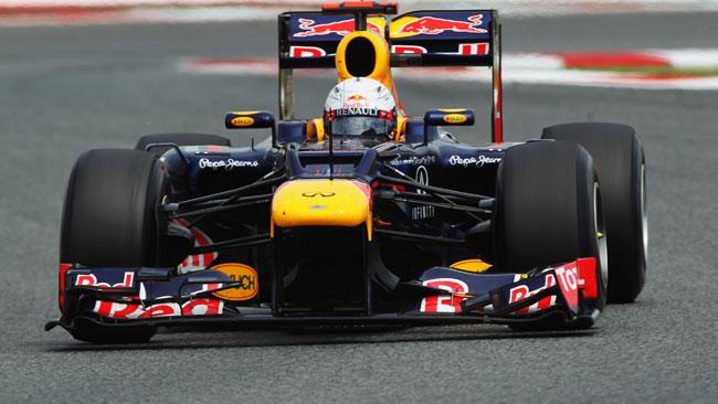Ecco Vettel con l'ala anteriore collassata!
