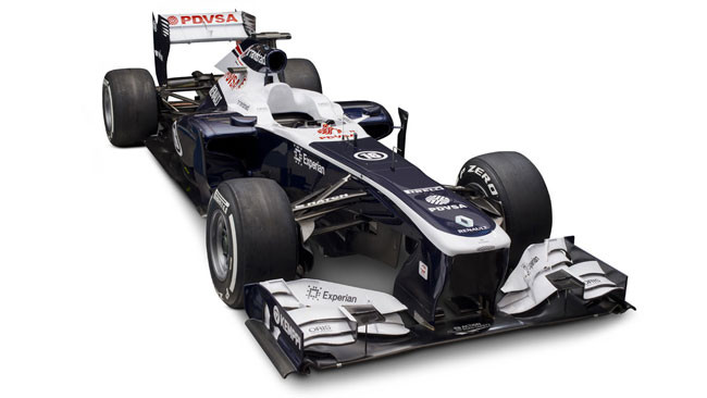 La Williams FW35 alta davanti, bassissima dietro