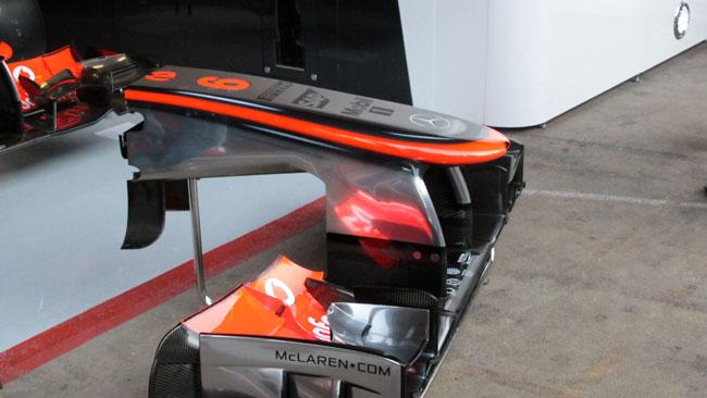 McLaren: un deviatore di flusso di tre è nel muso