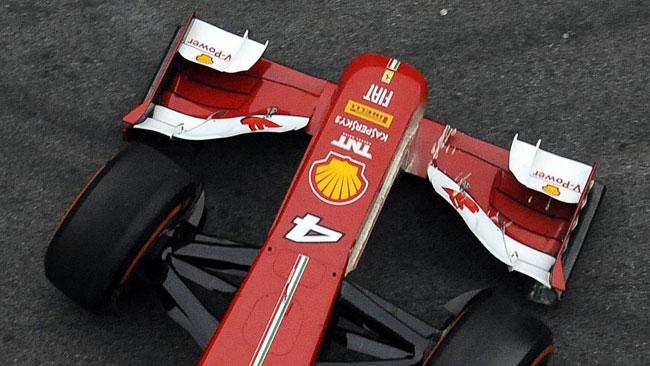 La Ferrari ha una nervatura ai lati del musetto